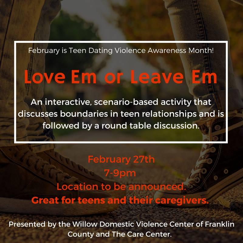 Willow Domestic Violence Center Events - Love Em Or Leave Em